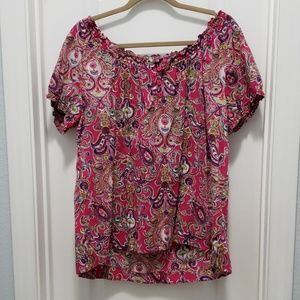 Bright pink Izod blouse